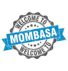 Mombasa round ribbon seal vector