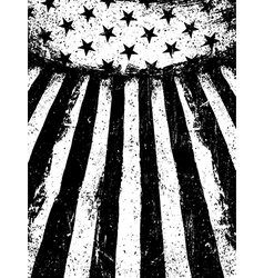Monochrome negative photocopy american flag vector