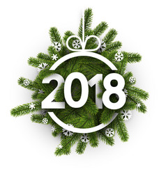 new year 2018 card vector image