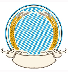 oktoberfest label Bavaria flag background with vector image vector image