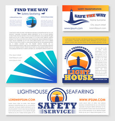 safety transportation marine company design vector image vector image
