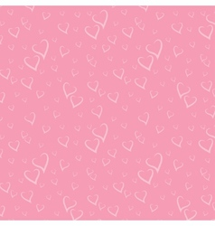 Seamless Pattern with Stylized Hearts vector image