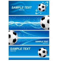set soccer background vector image vector image