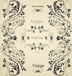 Vintage floral pattern for your design vector image vector image