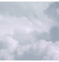 White Sky and Clouds vector image vector image