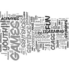 Youth group games activities text background word vector
