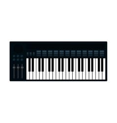 Piano instrument music icon graphic vector