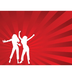 dancing females vector image