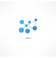 Molecule icon vector