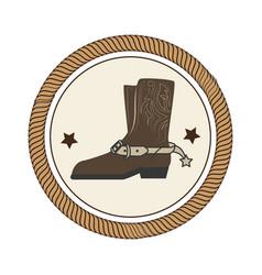 cowboy boots wild west vector image