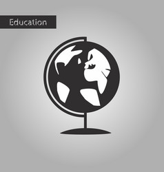 black and white style icon globe vector image