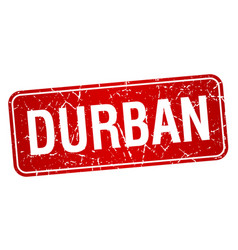 Durban red stamp isolated on white background vector