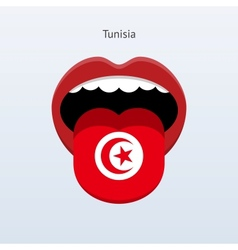 Tunisia language abstract human tongue vector