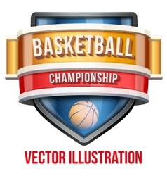 Label for basketball sport competition bright vector