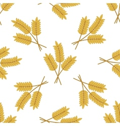 Seamless pattern of barley or wheat ears vector