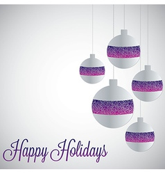 White filigree baubles with gradient in format vector