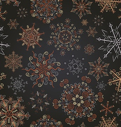 Snowflakes pattern noble vector
