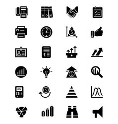 Finance solid icons 4 vector