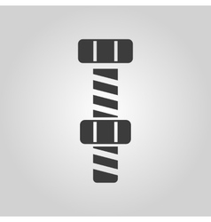 The bolt with nut stranded icon screw symbol vector