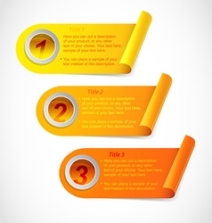 Three step information stickers vector