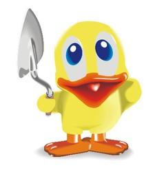 duck with trowel vector image