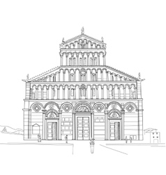 Sketch of pisa cathedral vector