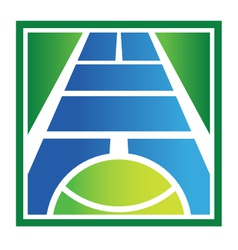 Tennis court logo vector image