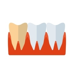 Tooth icon silhouette vector