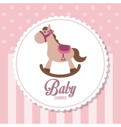 Baby shower design horse icon graphic vector
