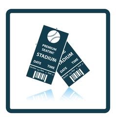 Baseball tickets icon vector image vector image