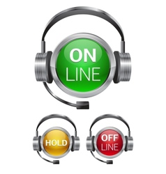call-center buttons vector image vector image