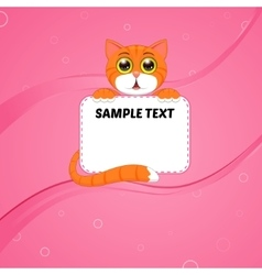 card with kitten vector image vector image