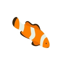 Clown fish icon isometric 3d style vector image vector image