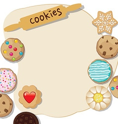 Cookies template vector