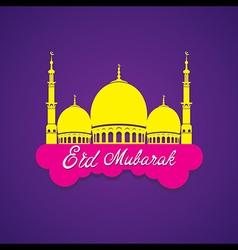 Creative eid mubarak islamic festival greeting vector