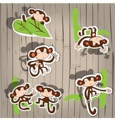 cute monkey fun vector image vector image
