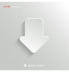 Down arrow icon - web background vector image vector image