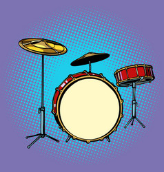 drum set musical instrument vector image vector image