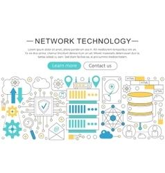 elegant thin line flat modern Network vector image vector image