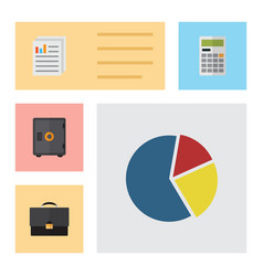 Flat exchequer set of document calculate vector