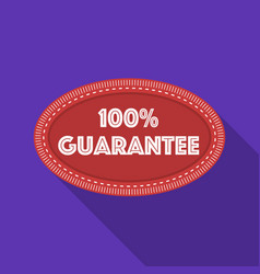 guarantee label icon in flat style isolated on vector image