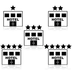 Hotel ratings vector image vector image