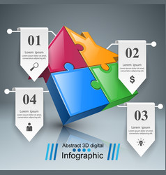 house puzzle icon business infographic vector image