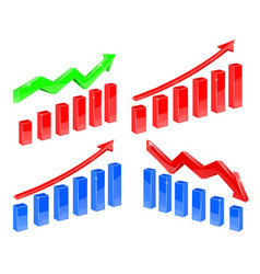 indication financial charts vector image