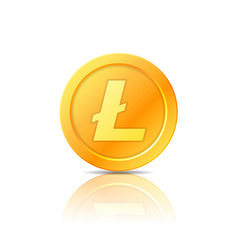 litecoin symbol icon sign emblem vector image