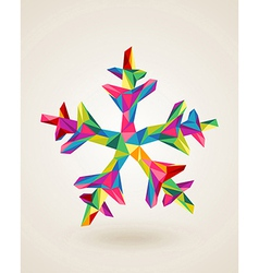 Merry Christmas celebration multicolors snowflake vector image vector image