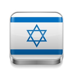 Metal icon of Israel vector image vector image