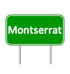 Montserrat road sign vector