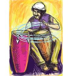 Musician - conga player vector