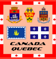 Official government elements of canada - quebec vector